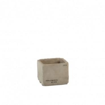 Cachepot Concrete Ciment Gris Small