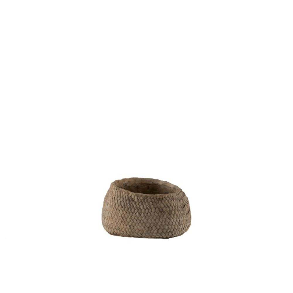 Cachepot Ciment Marron Small
