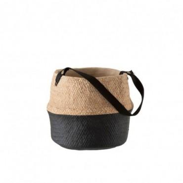 Cachepot Anse Ciment Naturel/Noir Large