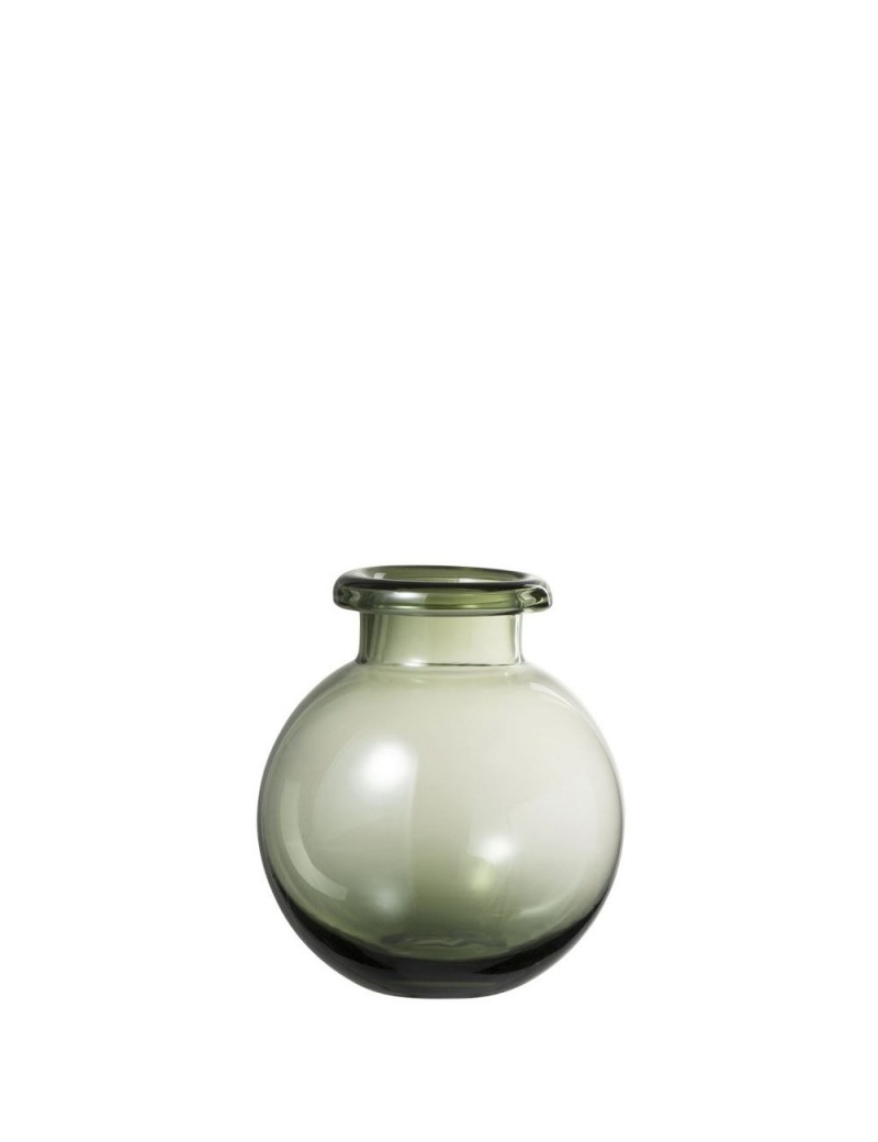 Vase Boule Verre Vert Small