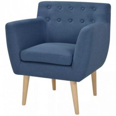 Fauteuil en tissu Bleu 67x59x77cm