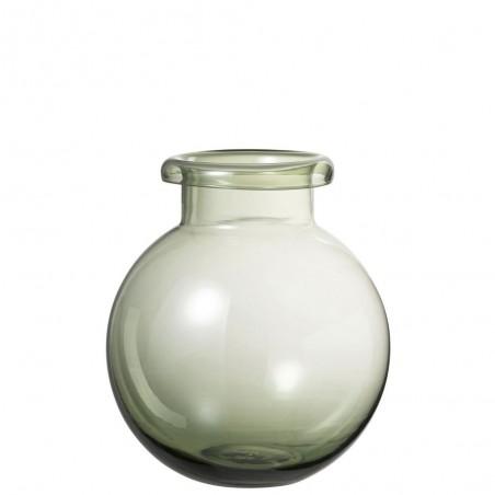 Vase Boule Verre Vert Large