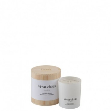 Bougie Parfumee Vivacious Blanche/Naturel Small