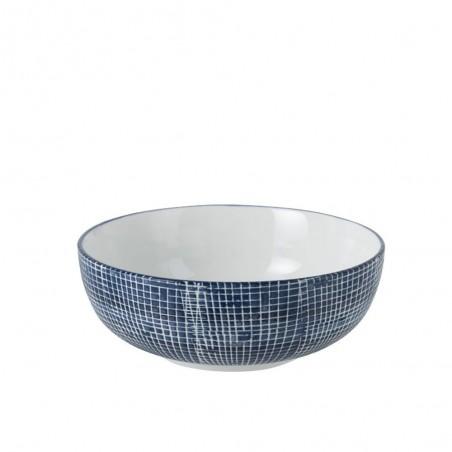 Bol Quadrille Porcelaine Bleu/Blanc
