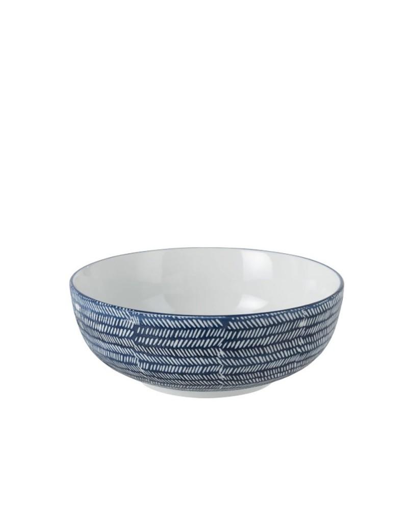 Bol Imprimes Porcelaine Bleu/Blanc
