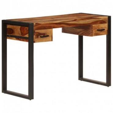 Bureau avec 2 tiroirs en bois de Sesham 110x50x77cm