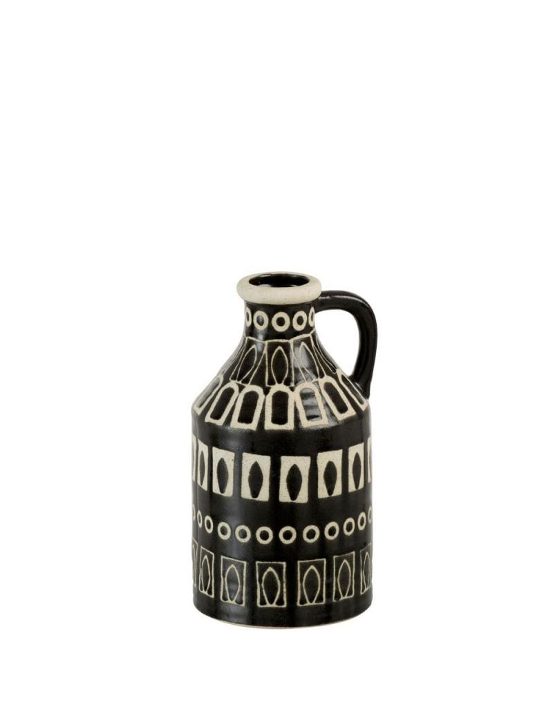 Vase + Oreille Ethnique Ceramique Marron/Beige Medium