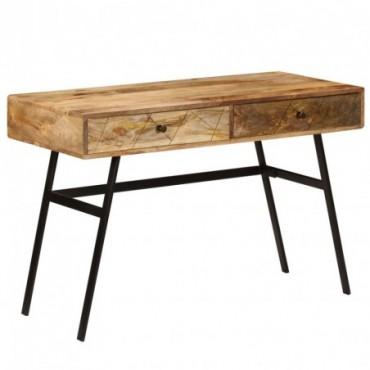 Bureau scandinave avec tiroirs en bois de manguier 110x50x76cm