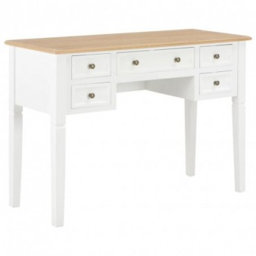 Bureau Blanc en bois 109,5x45x77,5cm