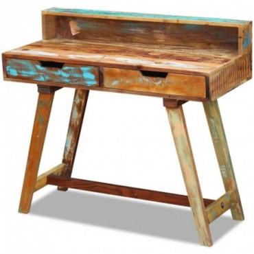 Bureau en bois de récupération massif Dimensions : 100x45x90cm (LxlxH)