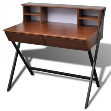 Bureau d'ordinateur avec 2 tiroirs