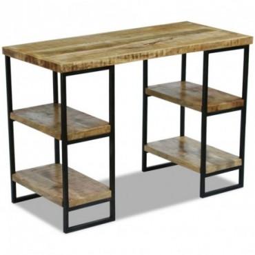Bureau en bois de manguier 110x50x76cm