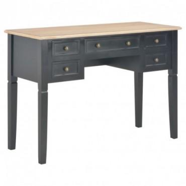 Bureau Noir en bois 109,5x45x77,5cm