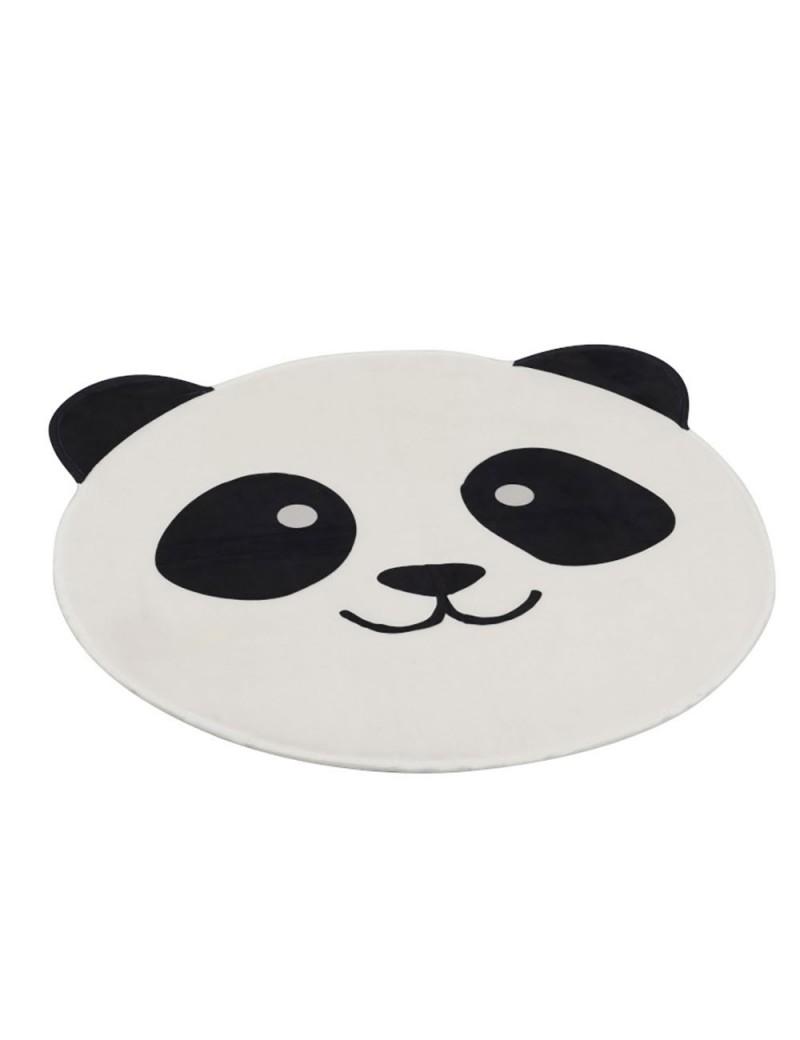 Tapis Tete De Panda Polyester Noir/Blanc