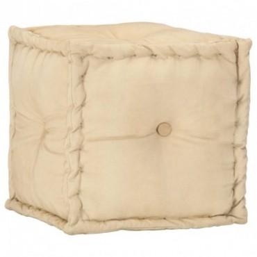 Pouf Sable en toile de coton 40x40x40cm