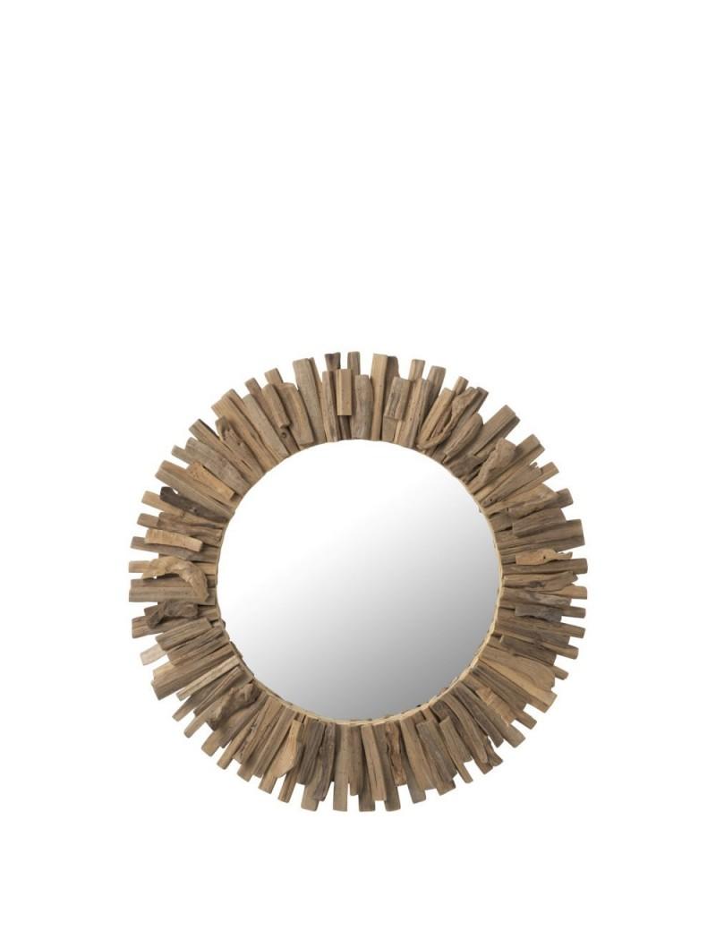 Miroir Rond Bois/Verre L