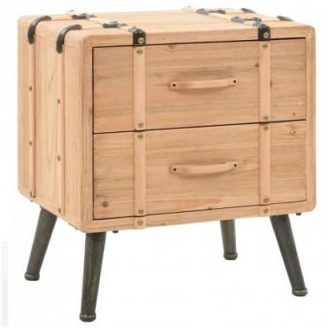 Table de chevet en bois de sapin massif 50x35x57cm
