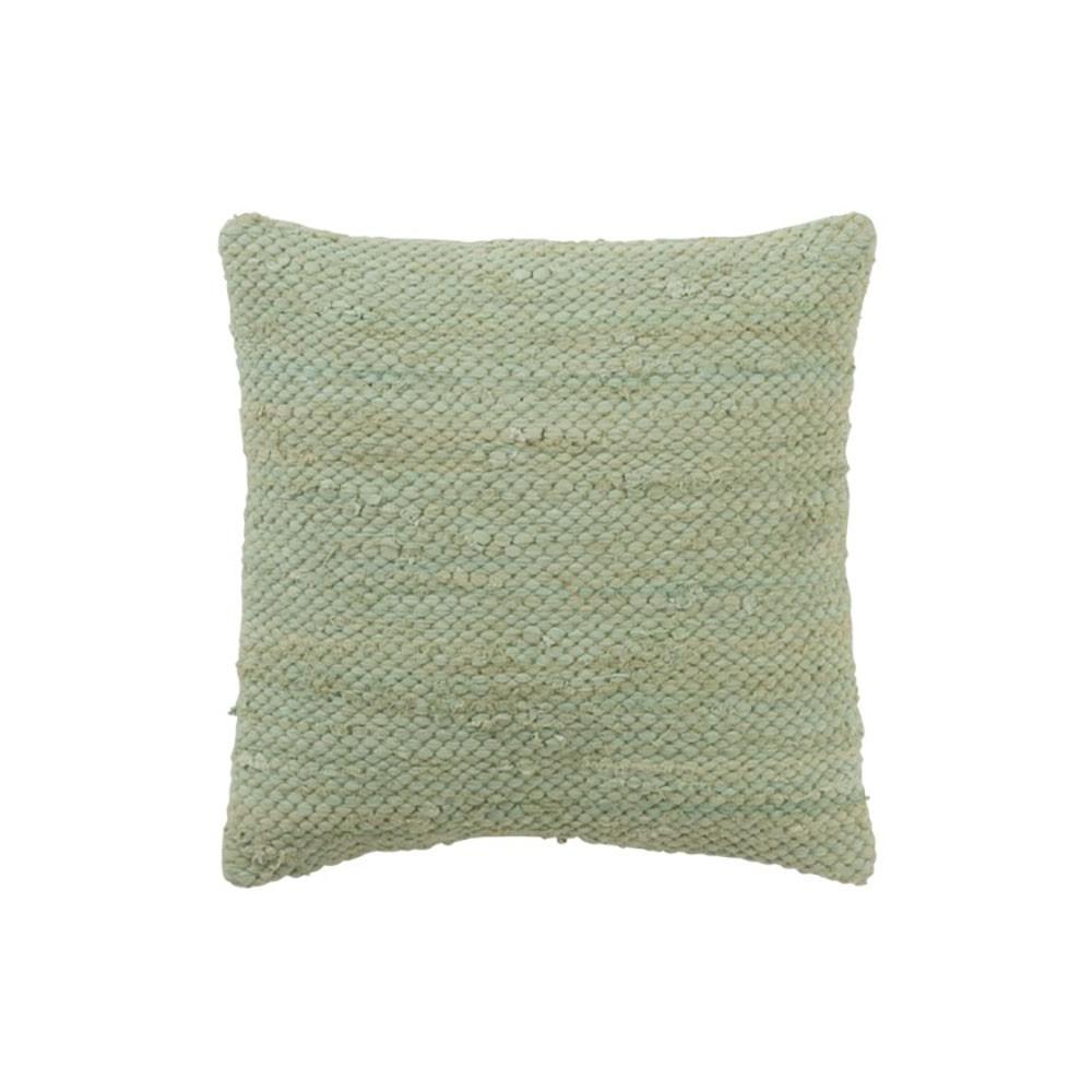 Coussin Crochete Coton Vert