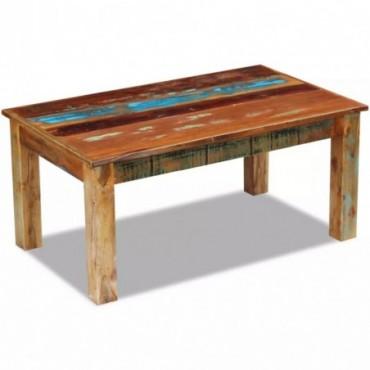 Table basse en bois de récupération massif 100x60x45cm