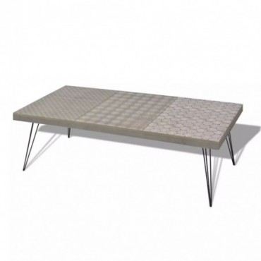 Table basse scandinave grise 120x60x38cm