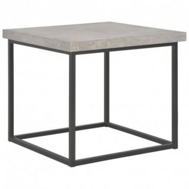 Table basse industrielle Béton 55x55x53cm