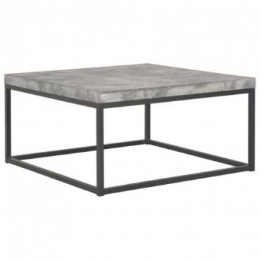 Table basse industrielle Béton 75x75x38cm