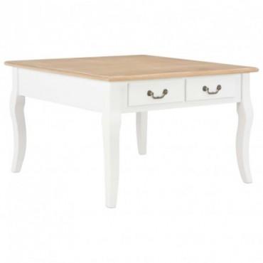 Table basse Blanc en bois 80x80x50cm