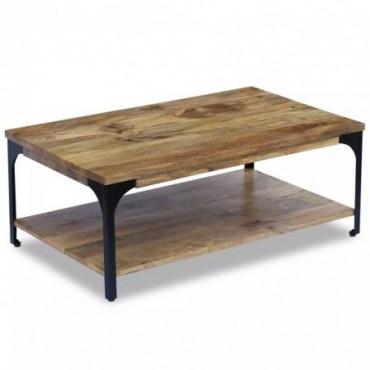 Table basse en bois de manguier 100x60x38cm