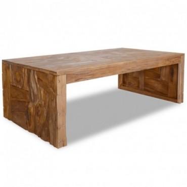 Table basse en bois de en teck érodé 110x60x38cm
