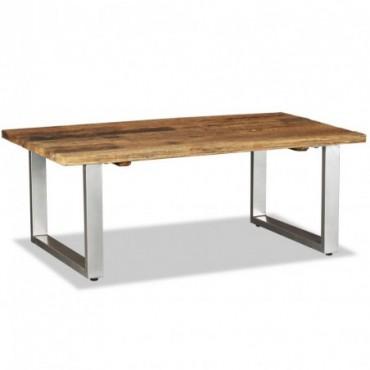 Table basse en bois de traverses massif 100x60x38cm