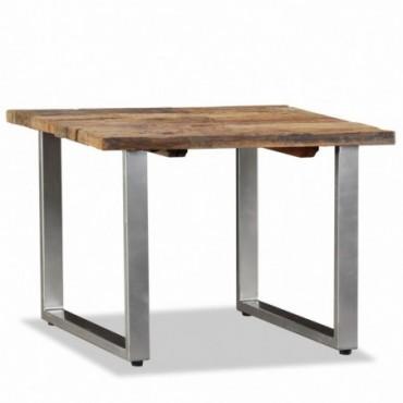 Table basse en bois de traverses massif 55x55x40cm