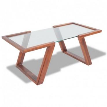 Table basse en bois massif d'acacia Marron 100x50x40cm