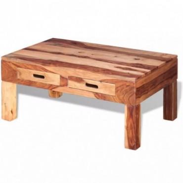 Table basse en bois massif de sesham