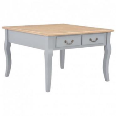 Table basse pieds baroques couleur Grise en bois 80x80x50cm