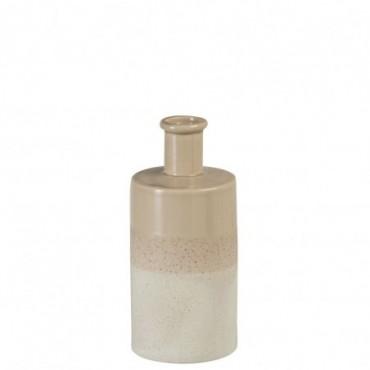 Vase Ceramique Beige/Blanc L
