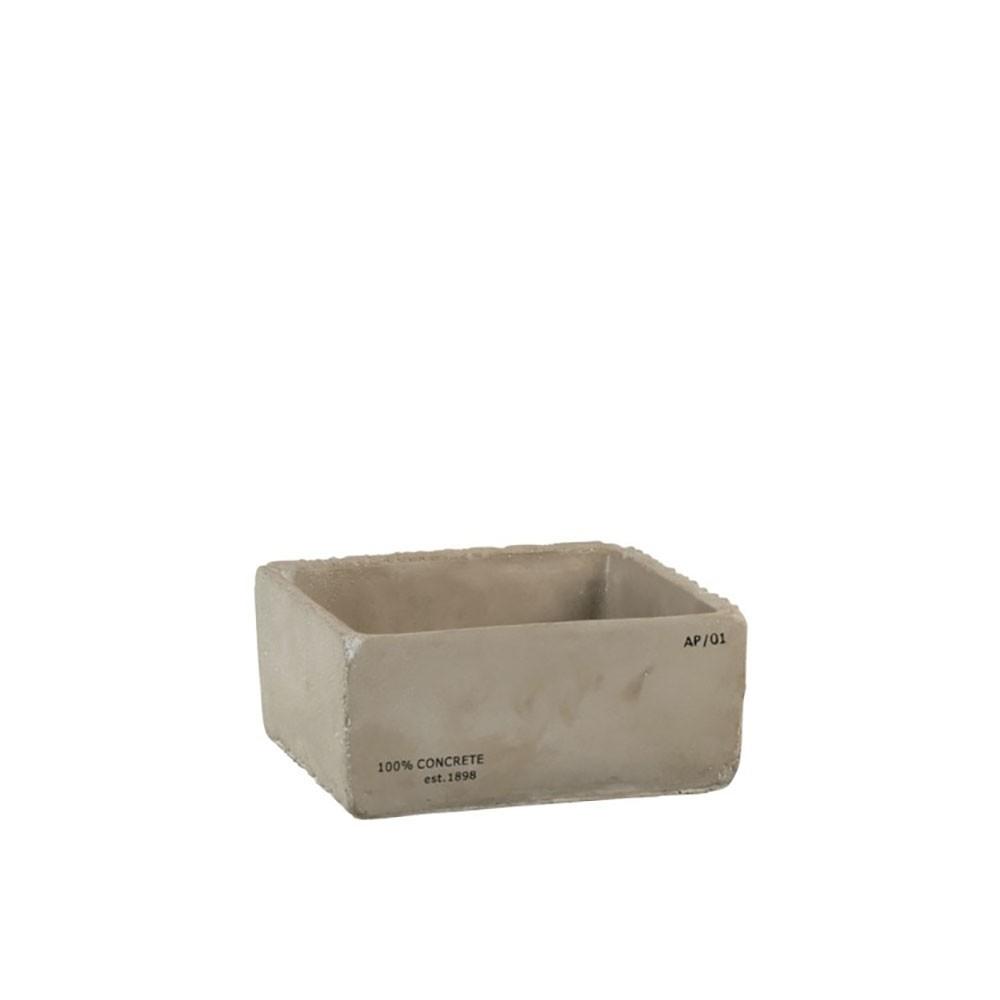 Cachepot Concrete Ciment Gris Xl