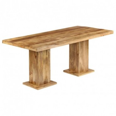 Table à dîner massive en bois de manguier 178x90x77cm