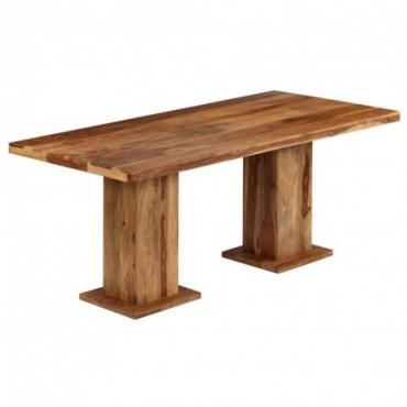 Table à dîner massive en bois de Sesham 175x90x77cm