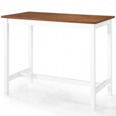 Table de bar en bois massif 108x60x91cm
