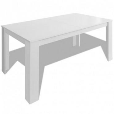Table de salle à manger blanc 140x80x75cm