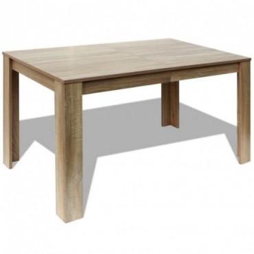 Table de salle à manger chêne 140x80x75cm