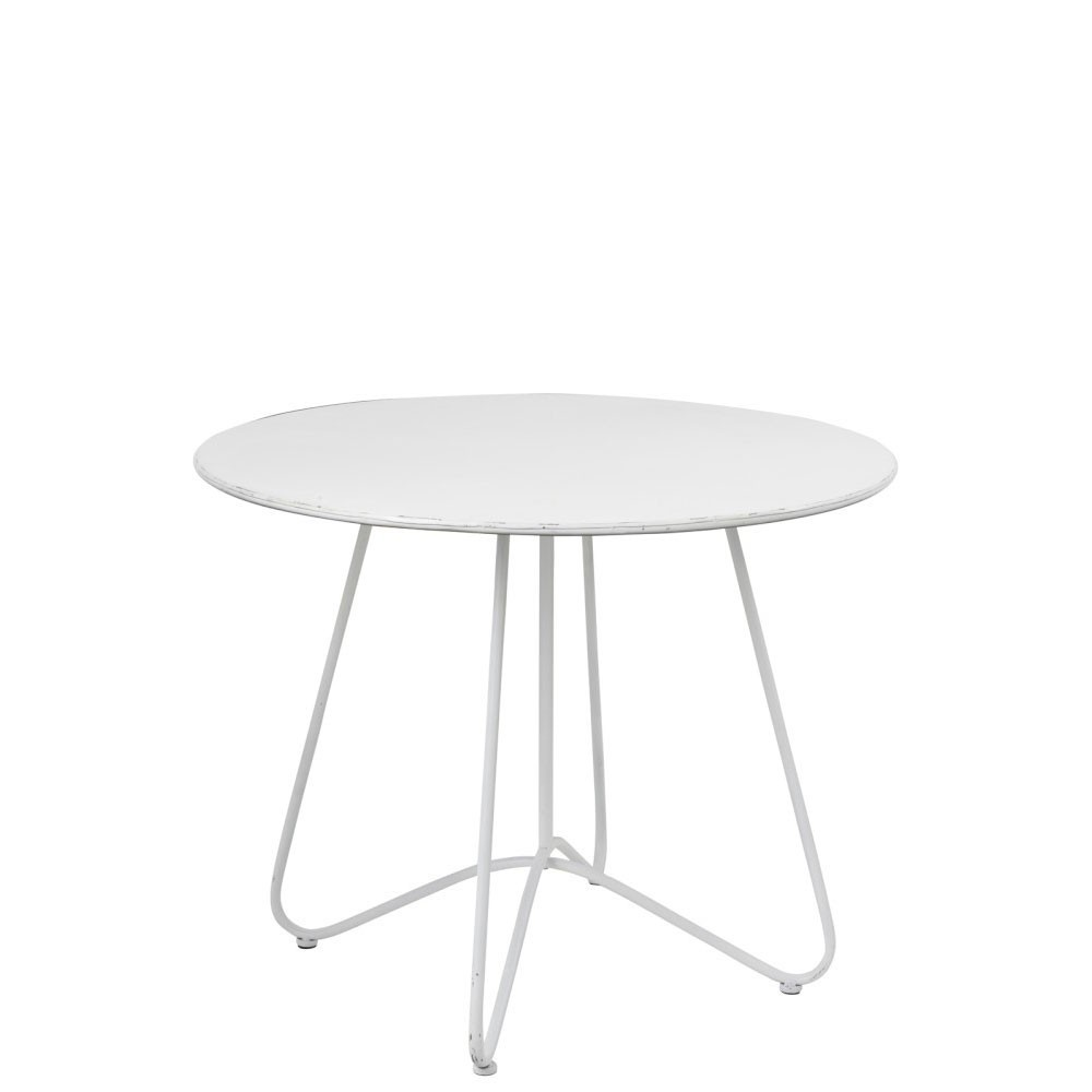 Table Ronde Metal Blanc