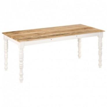 Table de salle à manger en bois de manguier massif 180x90x76cm