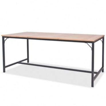 Table de salle à manger en bois de frêne 180x90x76cm