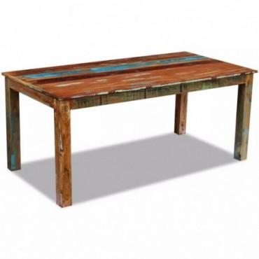 Table de salle à manger en bois de récupération 180x90x76cm