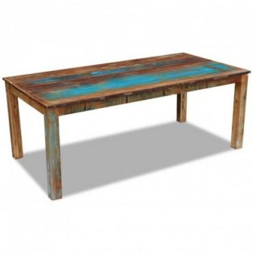 Table de salle à manger en bois de récupération 200x100x76cm