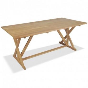 Table de salle à manger en bois de en teck massif 180x90x75cm