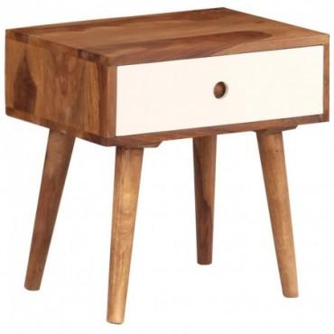 Table de chevet en bois massif de Sesham 45x30x45cm