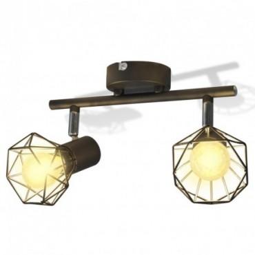 Lampes industrielles avec support 2 ampoules