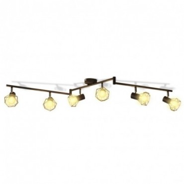 Lampes industrielles avec support 6 ampoules